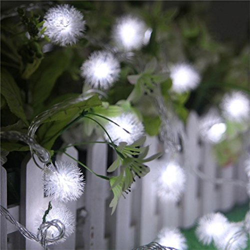 Kanzd Fairy String Light Dandelion Shaped Curtain Lamp Party Wedding Outdoor Decor (Sensory Friendly Halloween Party)