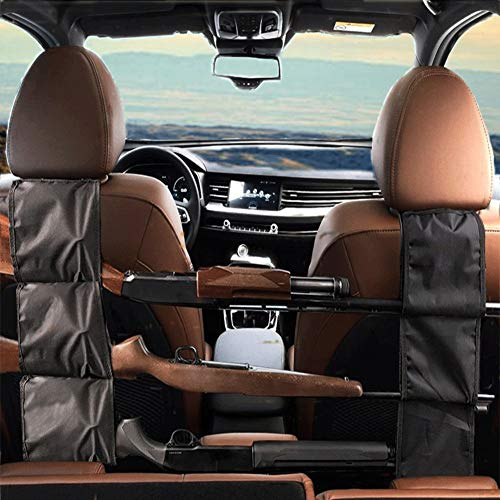 Car Concealed Seat Back Gun Rack to Hold 3 Rifles for Rifle Hunting Fits Most Sedans SUVs Pickup Mini Vans Jeeps in Pair
