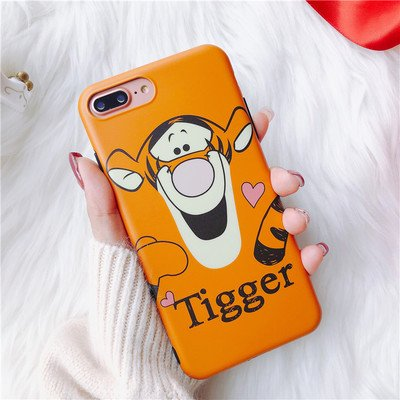 best sneakers cd747 e44e1 Ultra Slim Fit Soft TPU Glitter Orange Tigger Case for iPhone 7Plus 8Plus  7+ 8+ Shockproof Shock Proof Comfortable Smooth Disney Cartoon Stylish Cute  ...