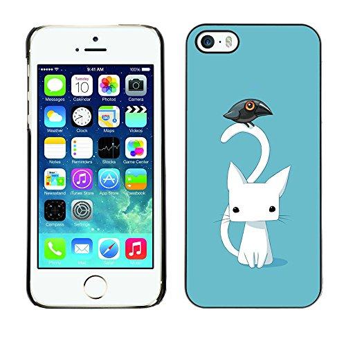 Ziland / Premium Slim HD plastique et d'aluminium Coque Cas Case Drapeau Cover / Kitten Cat Blue Raven / Apple iPhone 5 / 5S