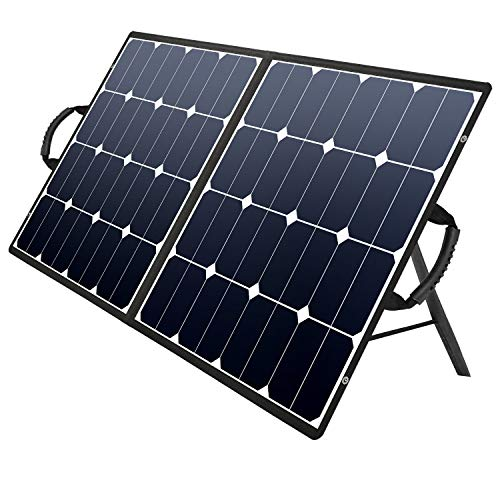 SUAOKI Solar Charger 100W Portable Solar Panel Foldable for Suaoki Portable Generator/Goal Zero Yeti Power Station/ROCKPALS Generator/Enkeeo/Webetop/Paxcess Battery Pack and Laptops,Smartphones