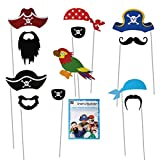 Pirate Boys Party Photo Booth Props Selfie Fun
