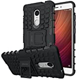 ykooe Xiaomi Redmi Note 4 Case, TPU Protection Cover Redmi Note 4 Dual Layer Hybrid Phone Case for Xiaomi Redmi Note 4 - Black