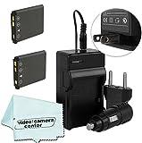 ( 2 PACK ) Vivitar Batteries Ultra High Capacity 900mAh Li-ion For Olympus Stylus 1040 1050w 1060 1070 1200 7000 7010 7020 7030 7040 Tough 3000 TG-310 TG-320 VR310 VR320 VR330 Digital Camera And More (OLYMPUS LI-42B/LI-40B Replacement ) + AC/DC Rapid Travel Charger + Microfiber Cloth