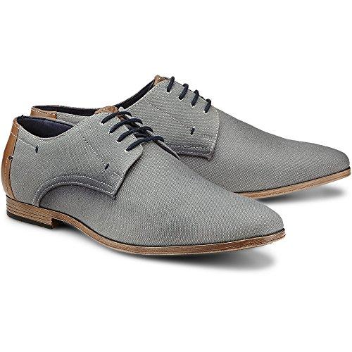 Cox Herren Business-Schnürschuh grau-dunkel