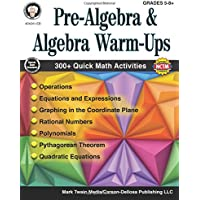 Mark Twain - Pre-Algebra and Algebra Warm-Ups, Grades 5 - 8