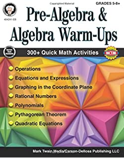 Painless pre algebra painless series amy stahl 9781438007731 pre algebra and algebra warm ups grades 5 12 fandeluxe Images