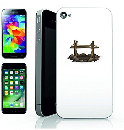 Smartphone Case focolare della Fossa del Falò della Corte di campeggio all aperto di cuscinetti di calore di pietre per Apple Iphone 4/4S, 5/5S, 5C, 6/6S, 7& Samsung Galaxy S4, S5, S6, S6Edge, S
