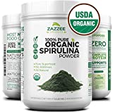 USDA Organic Spirulina Powder   2.2 Pounds (1 KG)   303 Servings   100% Pure and Non-Irradiated   Vegan, All-Natural, and Non-GMO   Mess-Free Wide Mouth Container   Fresh Smell and Neutral Taste