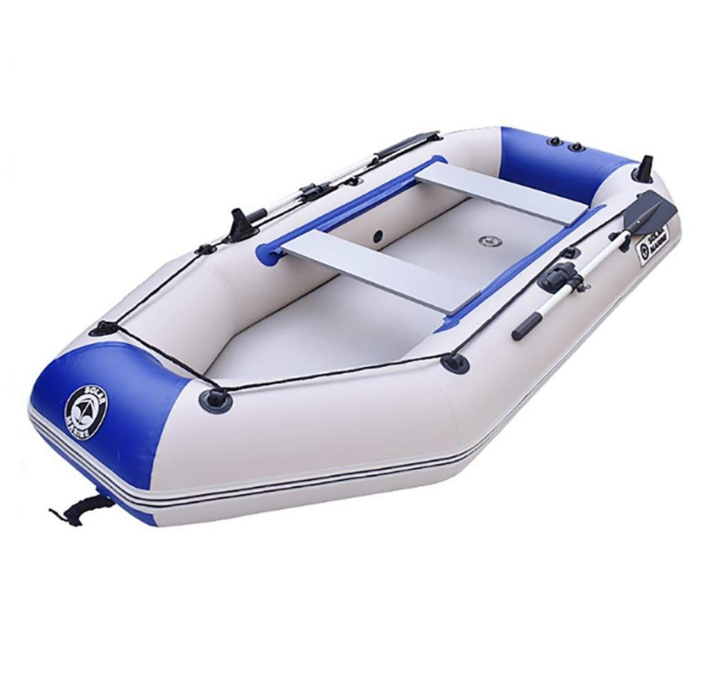 Kayak Fishing Boat, 2-Person Inflatable Kayak Set with Aluminum Oars and High Output Air Pump by POTA