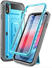 SupCase Unicorn Beetle Pro Series Case Designed for iPhone XR, with Built-in Screen Protector Full-Body Rugged