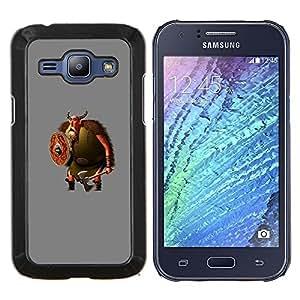 TECHCASE---Cubierta de la caja de protección para la piel dura ** Samsung Galaxy J1 J100 ** --Historieta Vikingo Barba Axe