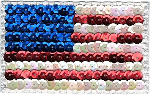 sequin american us flag embroidery