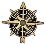 PinMart Find Your True North Compass Jewelry Enamel Lapel Pin