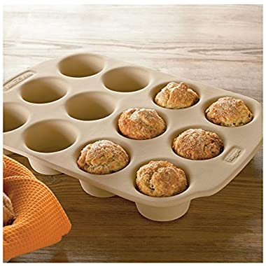Haeger NaturalStone 12-Cup Muffin Pan
