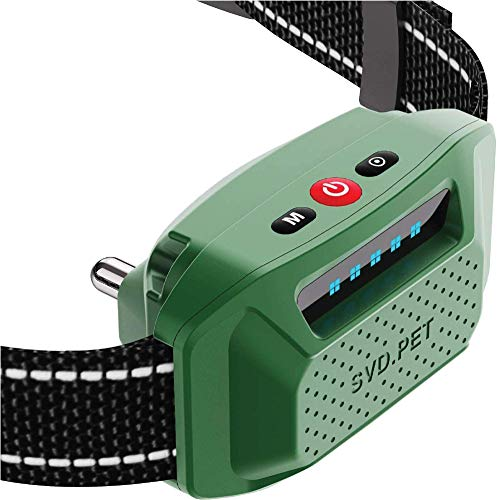 SVD.PET Waterproof Dog Bark Collar with Shock and Vibration Modes, USB Rechargeable Battery, Works Without Remote for…