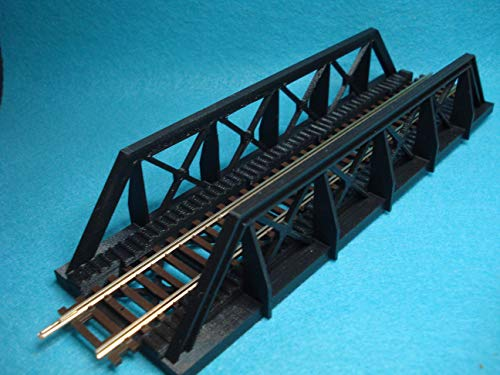 New HO Scale 58' Truss/Girder Bridge Atlas Track Black TSP Model Item 8102 ()