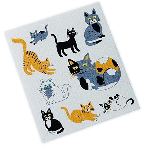 DII Cats Swedish Dishcloth,