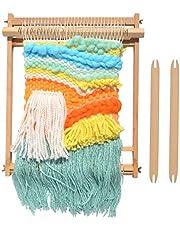 "Weaving Loom Beech Wood Creative DIY Weaving Art Multi-Craft Weaving Loom Arts & Crafts, Develops Creativity Weaving Frame Loom for Beginner 18""H x 14""W"