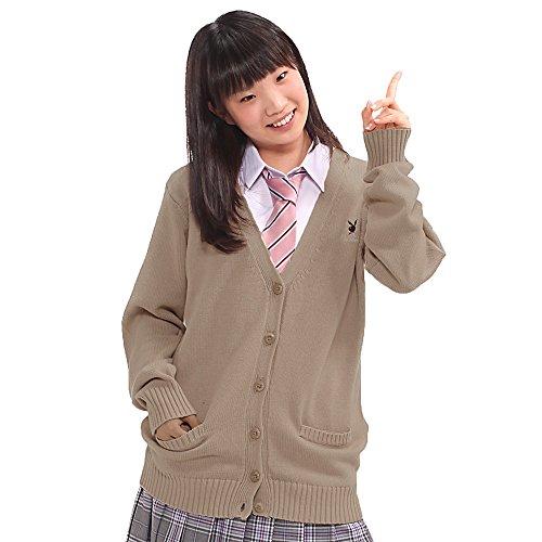 プレイボーイ(PLAYBOY) スクールカーディガン play bunny 【ベージュ Mサイズ】