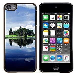 KLONGSHOP // Cubierta de piel con cierre a presión Shell trasero duro de goma Protección Caso - Sunset Beautiful Nature 46 - Apple iPod Touch 6 6th Touch6 //