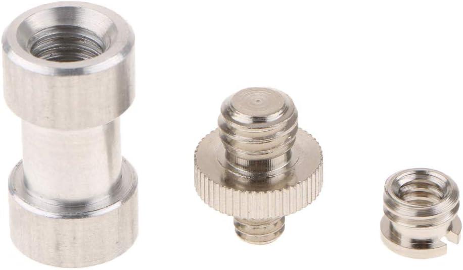 3X Umbrella Holder Screw Adapter Stud Set Kit 1//4 3//8 for Light Stand