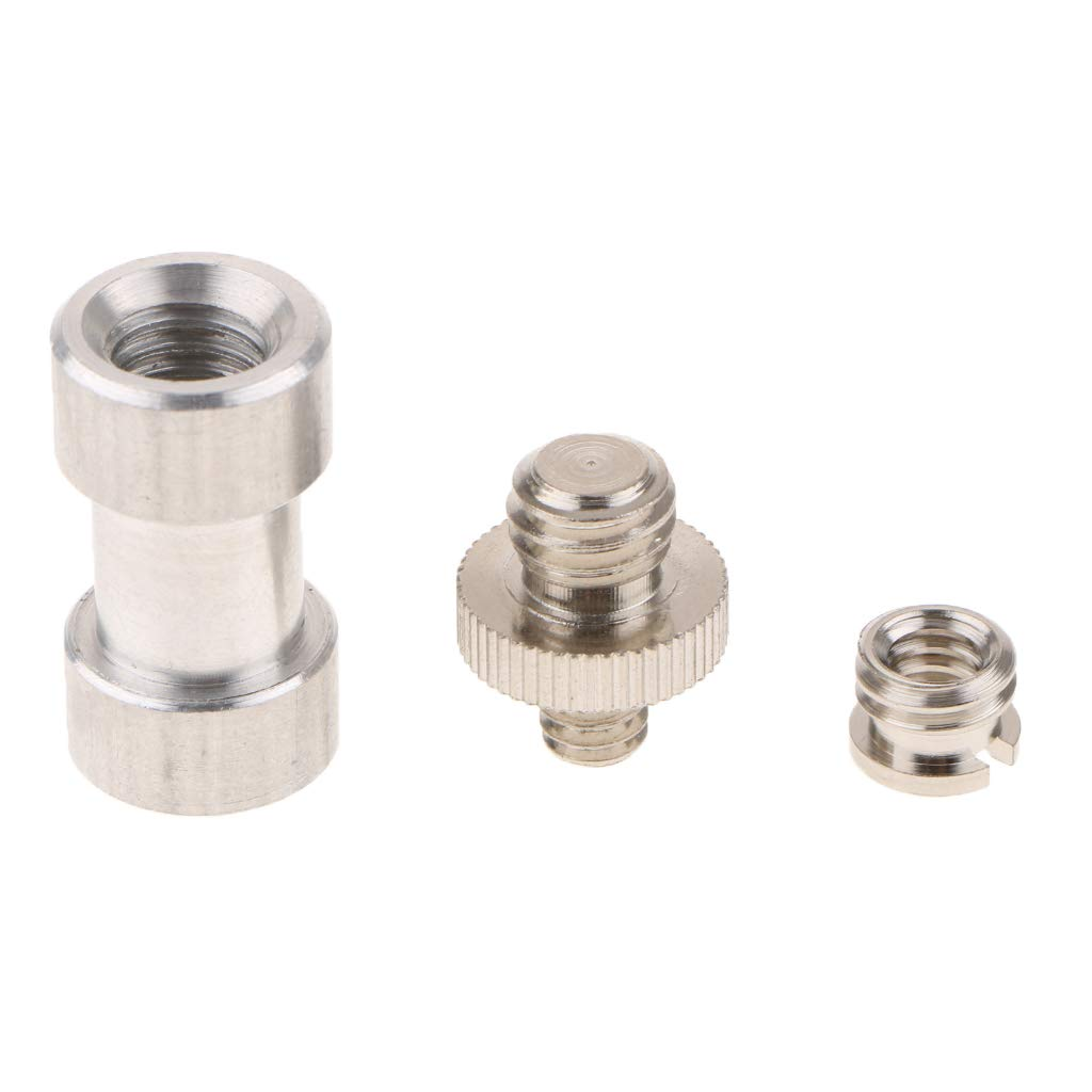 D DOLITY Screw Adapter Converter Stud Bolt 1/4' to 3/8' Tripod Monopod Ball Head Quick Release Plate