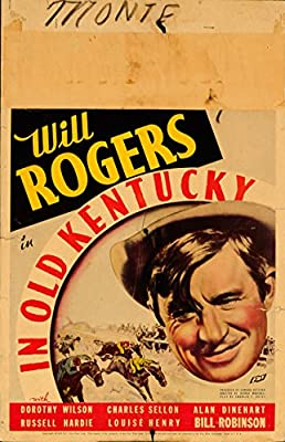 """In Old Kentucky 1935 Authentic 14"""" x 22"""" Original Movie Poster Never Folded Will Rogers Comedy U.S. Window Card"""