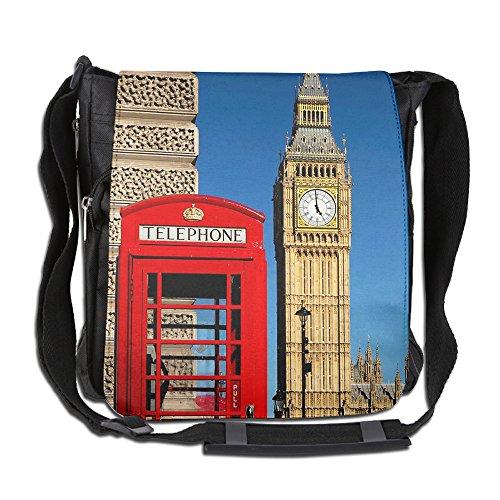 HUE FIUB Classic British London Messenger Bag Shoulder Bag Outdoor Sports Crossbody Bag Side Bag for Men Women