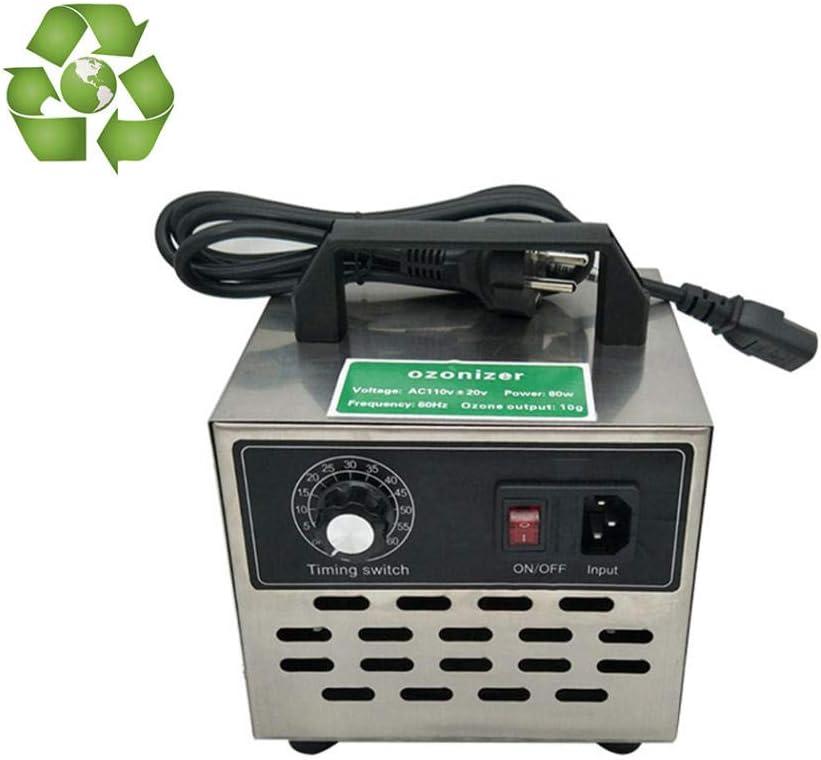 buyaolian Generador de ozono 220V10g Generador de ozono Industrial, purificador de Aire Máquina de ozono para Habitaciones, hoteles, automóviles, Mascotas, Humo y Hechos