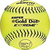 Worth Super Gold Dot Extreme NSA Softball (12-Inch)(pack of 12)