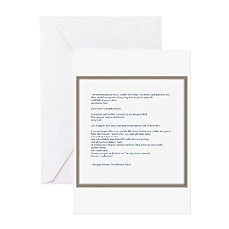 Amazon Cafepress Velveteen Rabbit Quote Greeting Card