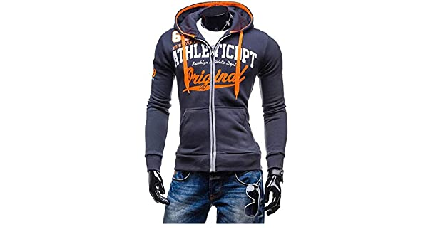 Amazon.com: NanGate 2018 Hoodies Men Sudaderas Hombre Hip Hop Mens Brand Letter Hooded Zipper Hoodie Sweatshirt Slim Fit Men Hoody XXL,tie,XXL,China: ...