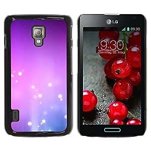 Paccase / SLIM PC / Aliminium Casa Carcasa Funda Case Cover para - Purple Pink White Bubbles - LG Optimus L7 II P710 / L7X P714