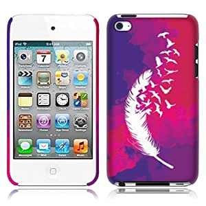 Fincibo (TM) Apple iPod Touch 4 (4th Generation) Back Cover Hard Plastic Protector Case - Dark Birds Of A Feather