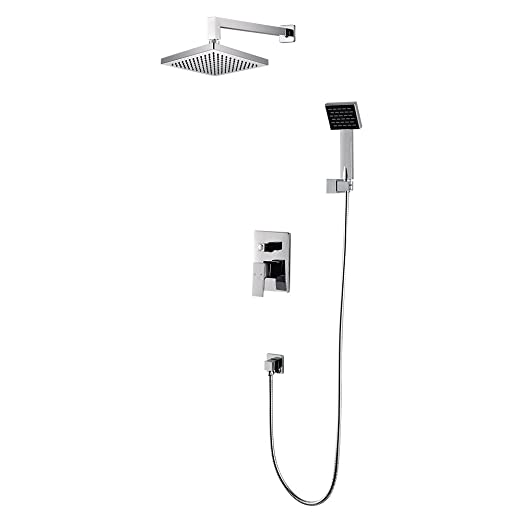 CRW Wall Shower Mixer Set System Concealed With Handheld Rainfall Shower  Head Sprayer Chrome Bathroom, 2 Function 3602A     Amazon.com