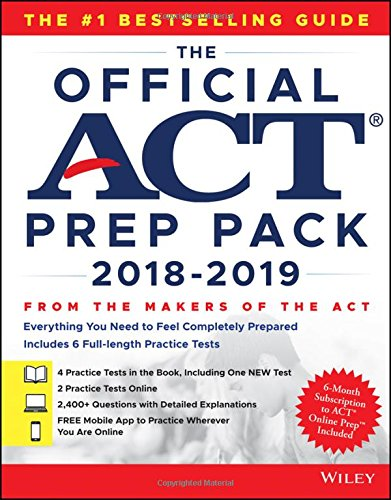 The Official ACT Prep Pack with 6 Full Practice Tests (4 in Official ACT Prep Guide + 2 Online) cover