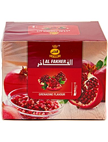 Al Fakher 250g Grenadine Flavor Hookahs By S & L With Free S and L Male and Female Mouth Piece Disposable Tips by Al Fakher