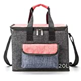 Large Insulated Cooler Bag for Lunch Picnic Camping Beach Tour BBQ 20L