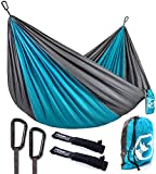 Relax, Unwind and Lie Down in Your Own Foxelli Double or Single Hammock While Taking in the Sights, Sounds & Smells of Nature! Looking for a portable hammock that you can easily take with you while camping, hiking or backpacking? Want to spend mo...