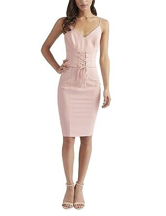 Lipsy Womens Corset Cami Dress Pink 6