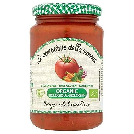 Conserva Della Nona Le Conserve Della Nonna Sin Gluten Tomate Y Albahaca Salsa De La Pasta 350g: Amazon.es: Hogar