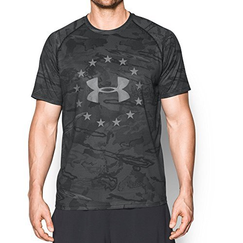 Under Armour Men's Freedom Reaper Tech T Black / Storm MD & Visor Bundle
