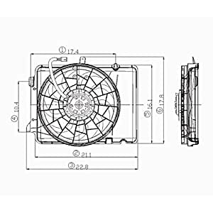 Amazon Com Cpp Radiator Cooling Fan Assembly For 92 95