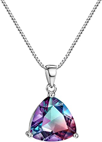 925 Sterling Silver Polished Rhodium-plated Checkerboard-cut Fancy cut-out back Pink Quartz Pendant