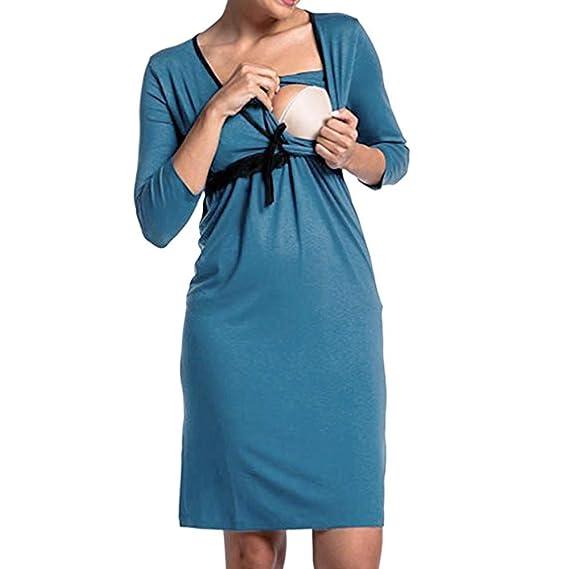SamMoSon Ropa para Dormir Premamá Camisones para Mujer Camisetas Trajes De Baño Premamá Ropa Premamá Embarazo