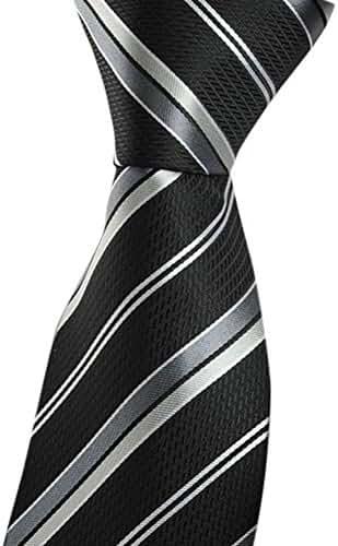 Allbebe Men's Classic Fashion Striped Jacquard Woven Silk Tie Formal Necktie