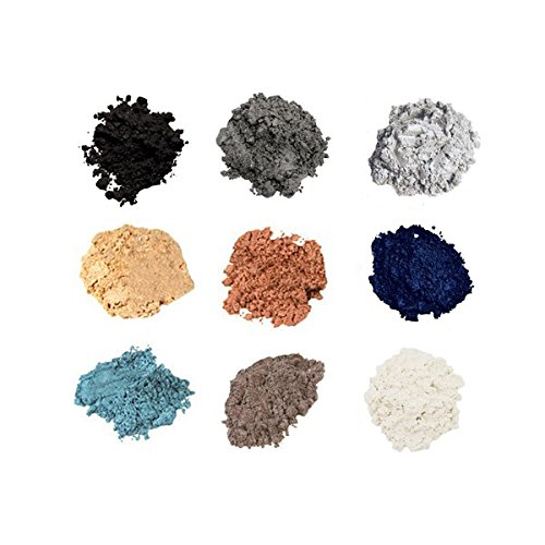 Mineral Shimmer Makeup Eyeshadow Highlighting Powder - Glitter Metallic Dust for Face, Hair & Nails (9-Stack - ()