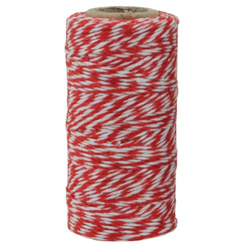 The Gift Wrap Company Baker's Twisted Twine, 500 yd, Black/White 19068AMZ-05
