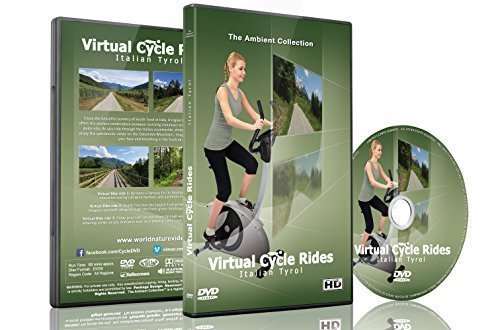 Virtual Cycle Rides - Bike Through Italian Tyrol - For Indoor Cycling, Treadmill and Running - Sunglasses Hurt